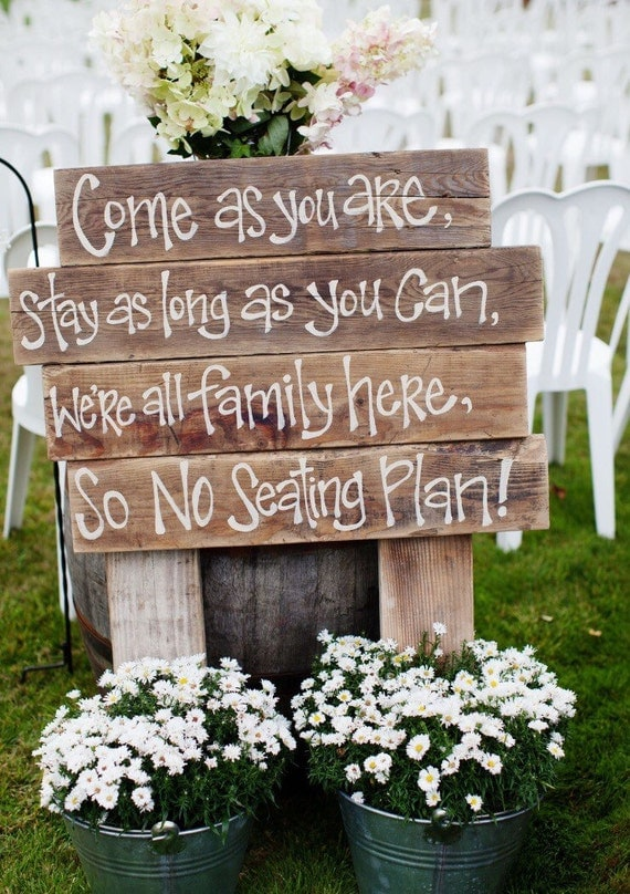 Rustic Wedding Signs - Barn Wedding Decor - Personalized Wedding Signs - FREE SHIPPING
