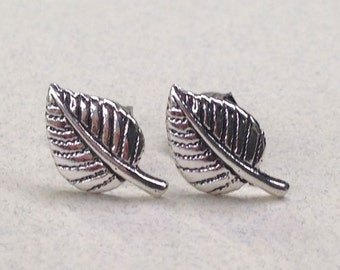 Sterling Silver Aspen Leaf Studs ( New Lower Price )
