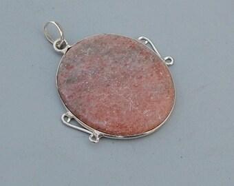 Oval Red Jasper Gemstone Fine 925 Silver Pendant Jewlery