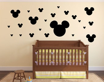 27 Mickey Mouse Heads Vinyl Wall Decal Sticker 27 in total