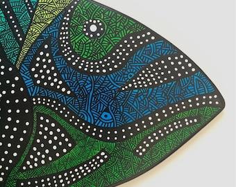 FISH- Zentangle & Aboriginal inspired