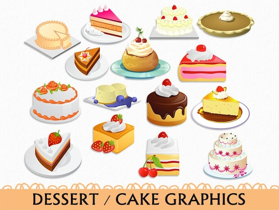 Cake Name Art : Cake Clip Art Graphic Food Sweets Dessert Clipart Scrapbook