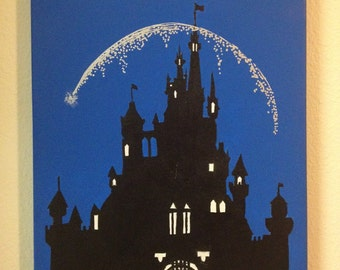 Disney Castle Silhouette Painting