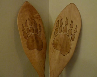Custom Wood Canoe Paddle