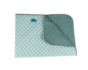 Baby Blanket. Blue Dot