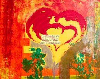 """Painting """"heart tree Garden"""" (Hearttreegarden) 80 x 80"""