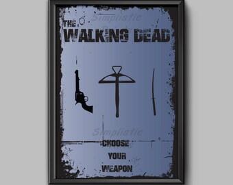 The walking dead minimalist poster 8x10, 11x14, 13x19