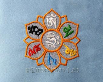 Mantra Om Mani Padme Hum 0002 - digital design for embroidery machine