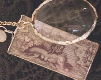 C5 Old Map Sea Creature Necklace