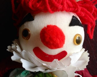Hand Made Clown Marionette
