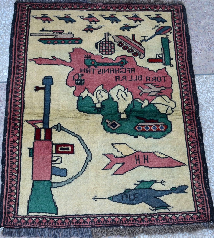 Antique Afghan Rugs: Antique Vintage Ak-47 War Rug Afghan Rug By Paramountcrafts