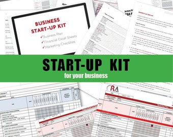 Complete Business START-UP KIT - PDFs and editable templates to download