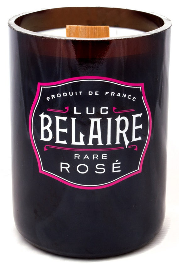 Luc belaire rose champagne bottle candle by waxandwicknyc for Where can i buy belaire rose champagne