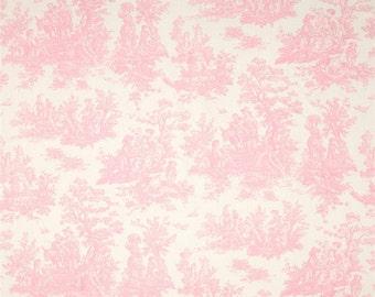 Jamestown Toile Baby Pink Bella/Twill by Premier Prints Fabric Yardage