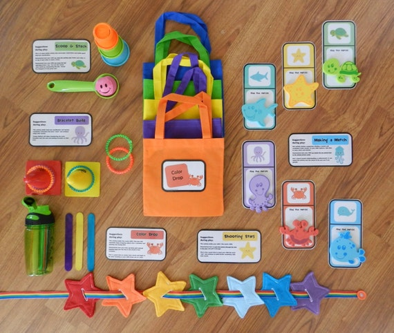 Busy bags set for 1 year old toddler activities toddler for Kitchen set for 1 year old