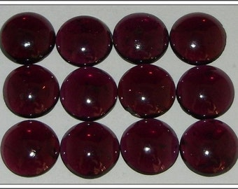 25-P Wholesale Lot Of  Red Garnet 8X8 MM Round Shape Loose Gemstone Cabochon