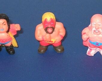 Vintage group of 3 Soma Vending Machine wrestling figures