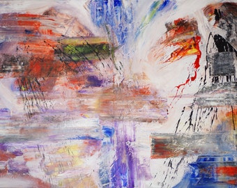 Abstract painting / acrylic 120 x 80 cm