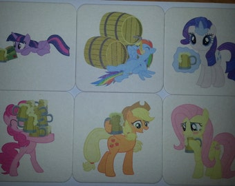 My little Pony Beer (Cider) Coasters