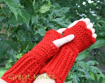 Crocheted Fingerless Texting Gloves
