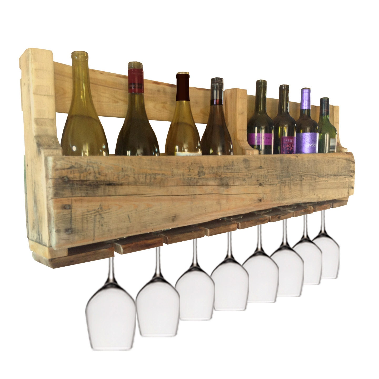 Pallet wine rack wine bar made from pallets for Pallet wine bar