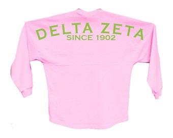 DZ // Delta Zeta // Since Jersey // Choose Your Colors // Sorority Oversized Jersey