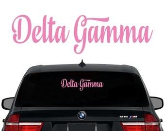 DG Delta Gamma Decal Sorority Decal Laptop Sticker Car Decal