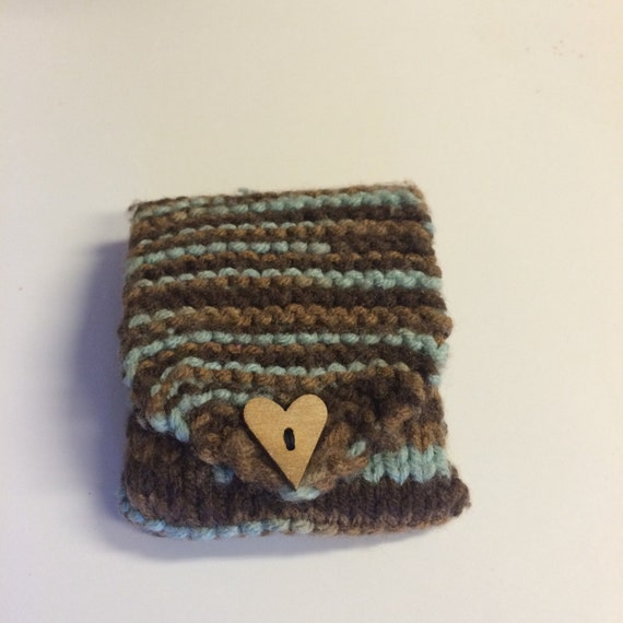 knitted coin purse by Digisknits on Etsy