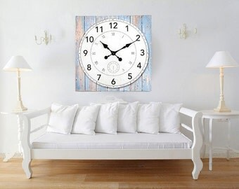 Canva Wall Clock - Large Clock Printed on Canva - 24x24 Inches