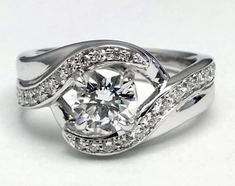 1.47 Carat Total Weight Entwined Engagement Rin