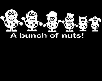 A Bunch of Nuts Family Window Decal