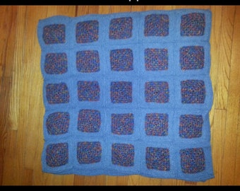 Blue and rainbow blanket