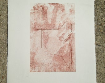 Hand and Line Etching