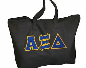 Alpha Xi Delta Lettered Tote Bag