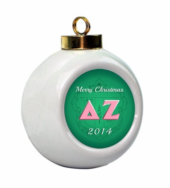 Company Logo Christmas Ornaments: Delta Zeta Christmas Ball Ornament With Logo
