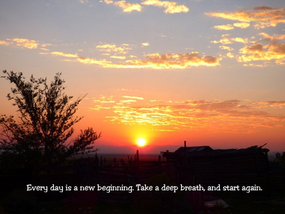 Every Day Is A New Beginning Positive Art Recovery