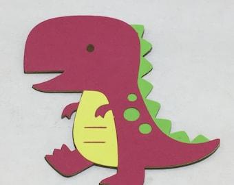 6 Cricut Die Cut Dinosaur Embellishments
