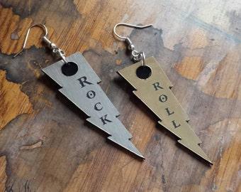 Rock N Roll Lightning Earrings