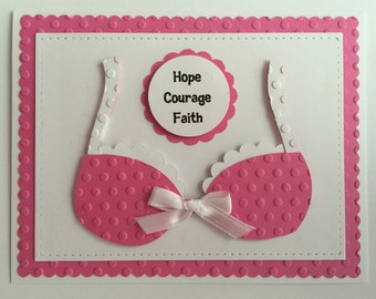 "Handmade ""PINK"" Breast Cancer Card"