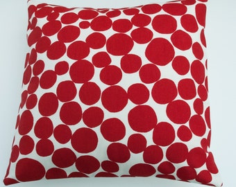 """Modern Ruby Red Bubbles Decorative Home Decor Pillow Cushion Cover 16"""" / 40cm"""