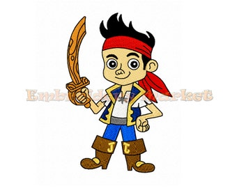 pirate jake embroidery Design for Embroidery Machines 3 sizes Instant Download