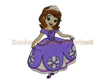 princess sofia first  Design for Embroidery Machines 5 sizes - Instant Download