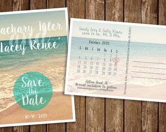 Beach Save the Date Postcards {deposit}