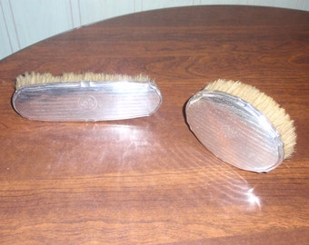 Antique Continental Silver Backed Hair/Clothing Brushes