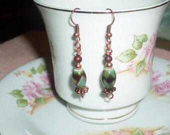 Lovely beaded dangle earrings
