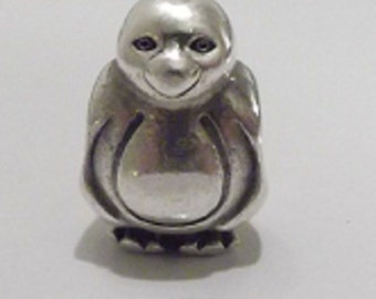 Authentic Pandora Smooth Head Penguin Charm # 790423 RETIRED