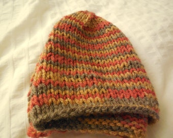 Non-ribbed Handmade Knit Beanie