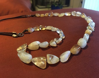 Sunshine and Citrine.  A handmade, one of a kind, citrine beaded necklace.