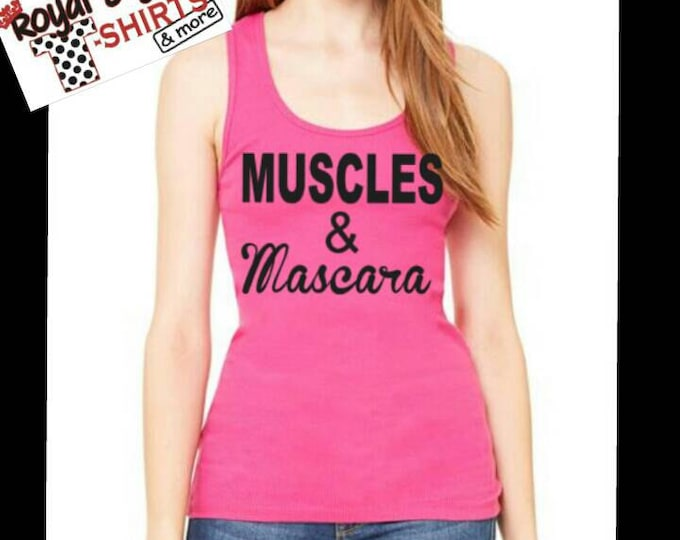 Muscles and Mascaras FLOWY RACERBACK TANK