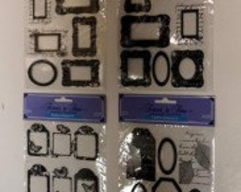 Wholesale Scrapbook Assorted Shadow Tag Embellishments